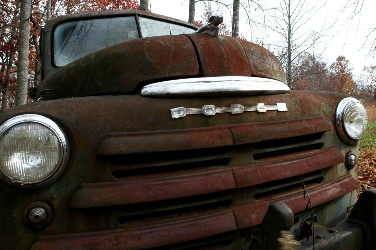 old truck in my dad's field | gilkey, nc