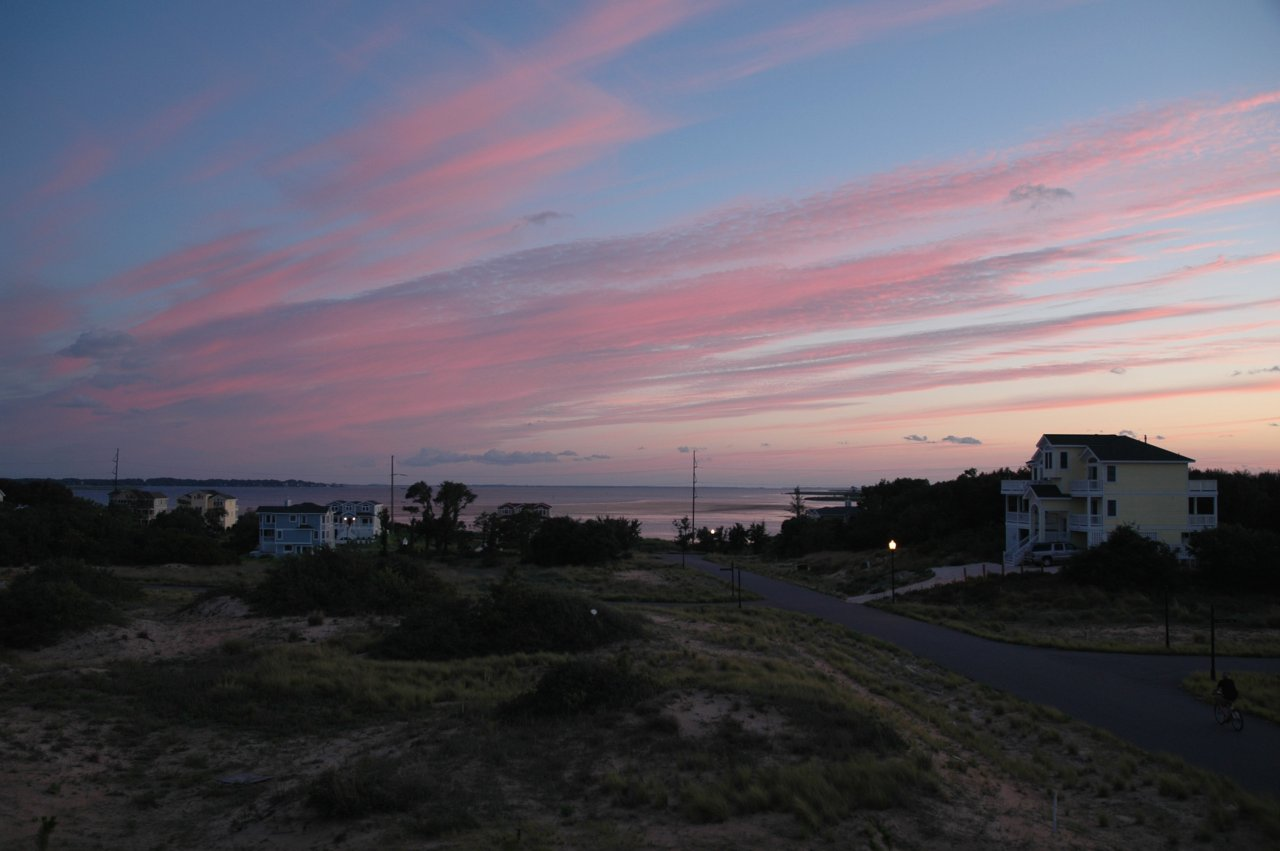 outer banks vacation sunset | kitty hawk, nc